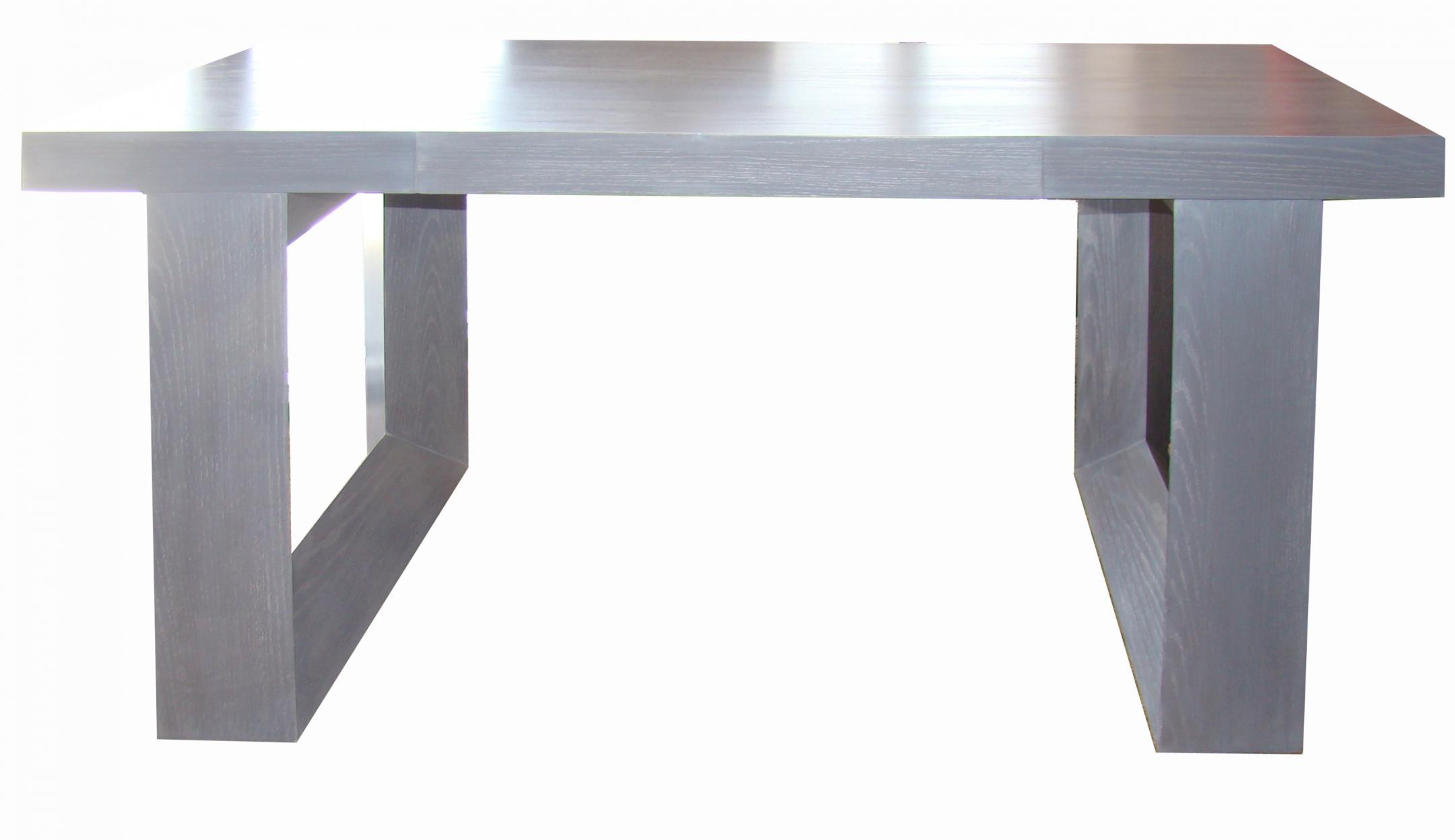 Mid Century Modern Desk In A Grey Cerused Oak