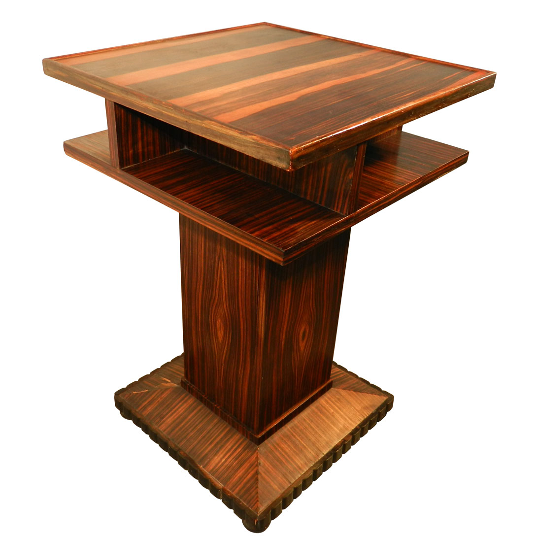rare art deco very geometric rosewood gueridon table modernism. Black Bedroom Furniture Sets. Home Design Ideas