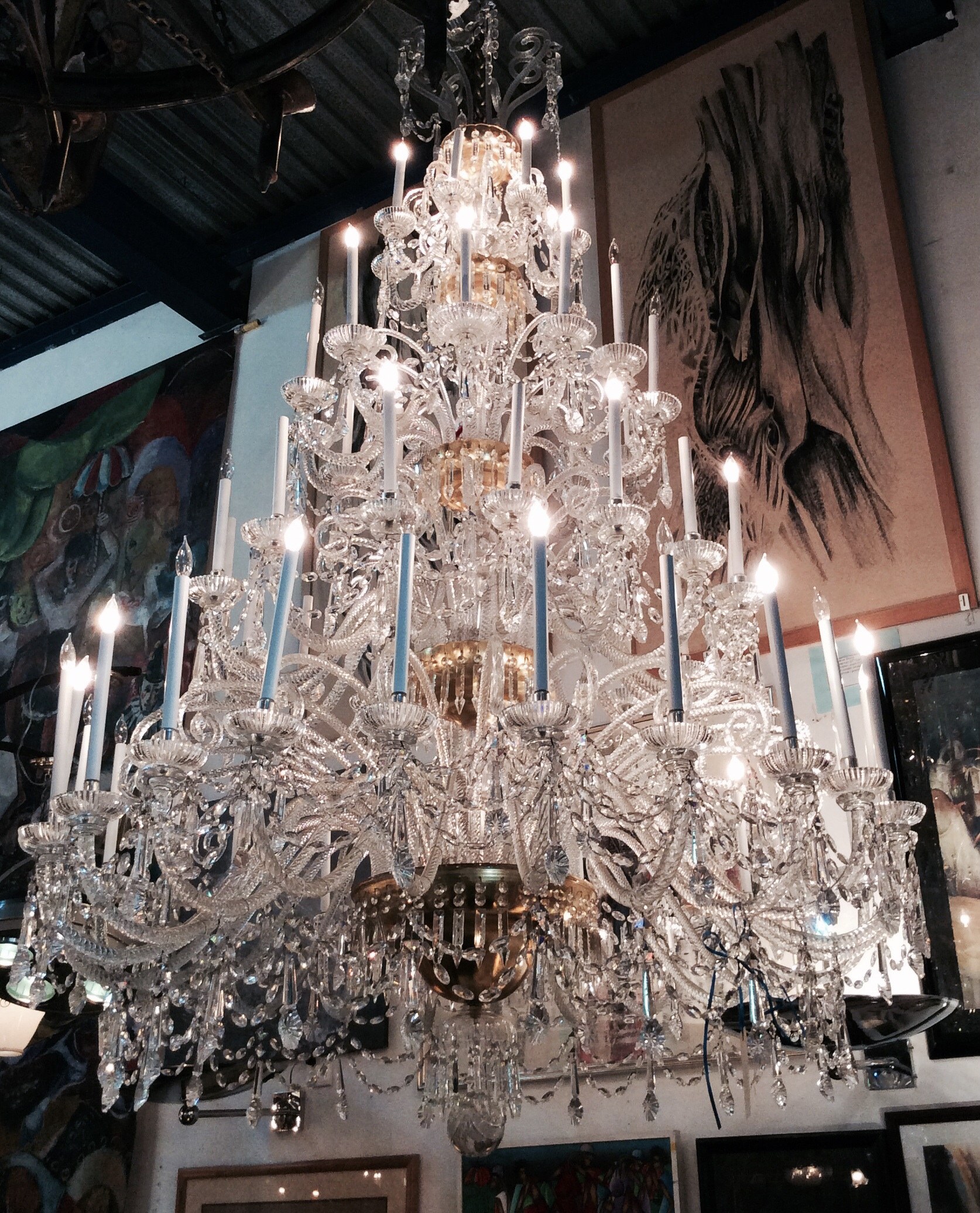110 inches fabulous monumental baccarat chandelier modernism 110 inches fabulous monumental baccarat chandelier aloadofball Images
