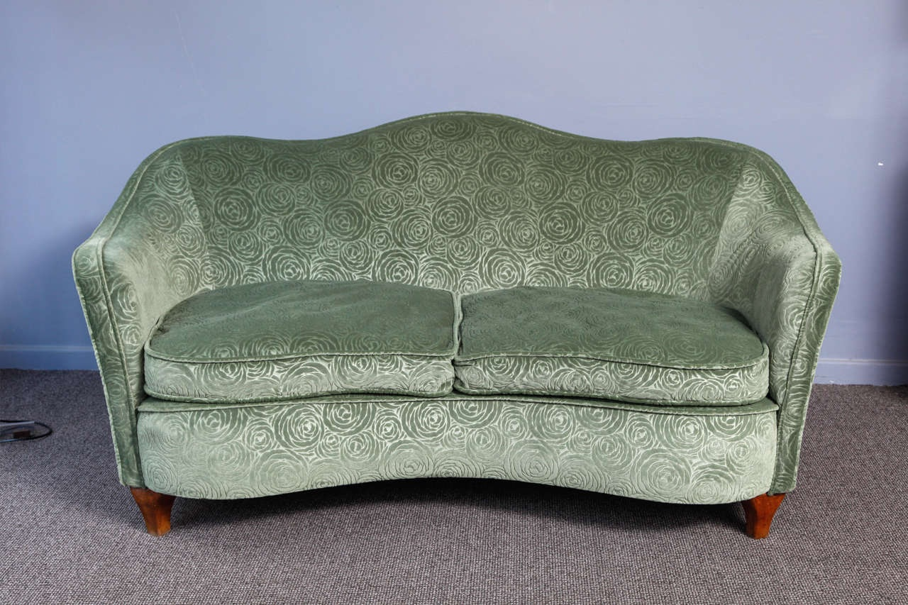 Italian Origin Art Deco Sofa Modernism