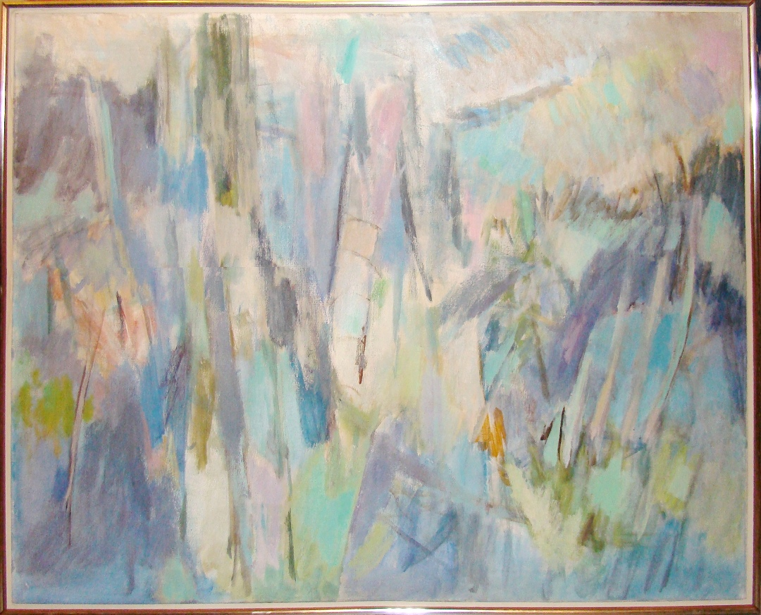 Decorative Abstract Impressionistic Oil Painting In