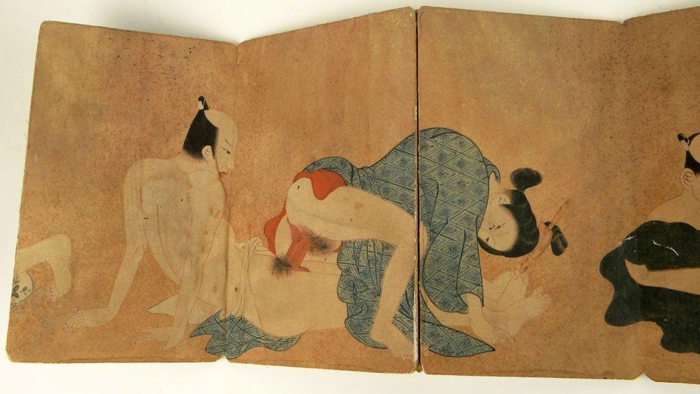 Japanese art, Nude geisha girl by Hirano Hakuho, vintage ...