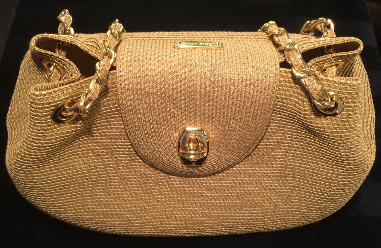 Eric Javits Straw Bag With Chain Strap Just For Summer