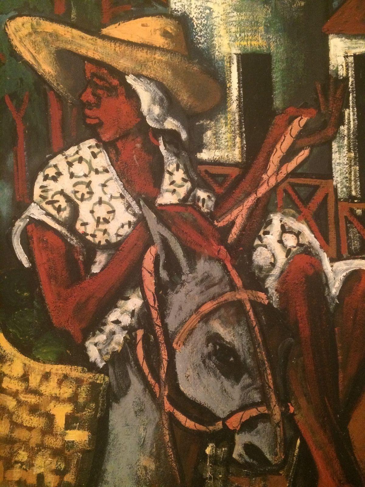 Jean Nehemy Haitian Oil Painting Modernism