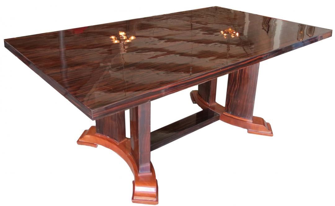 Maurice Rinck French Art Deco Dining Table  Modernism