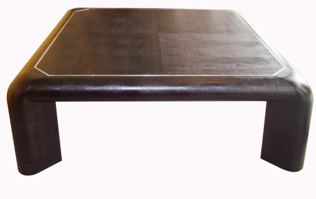 Karl Springer Embossed Lizard Coffee Table