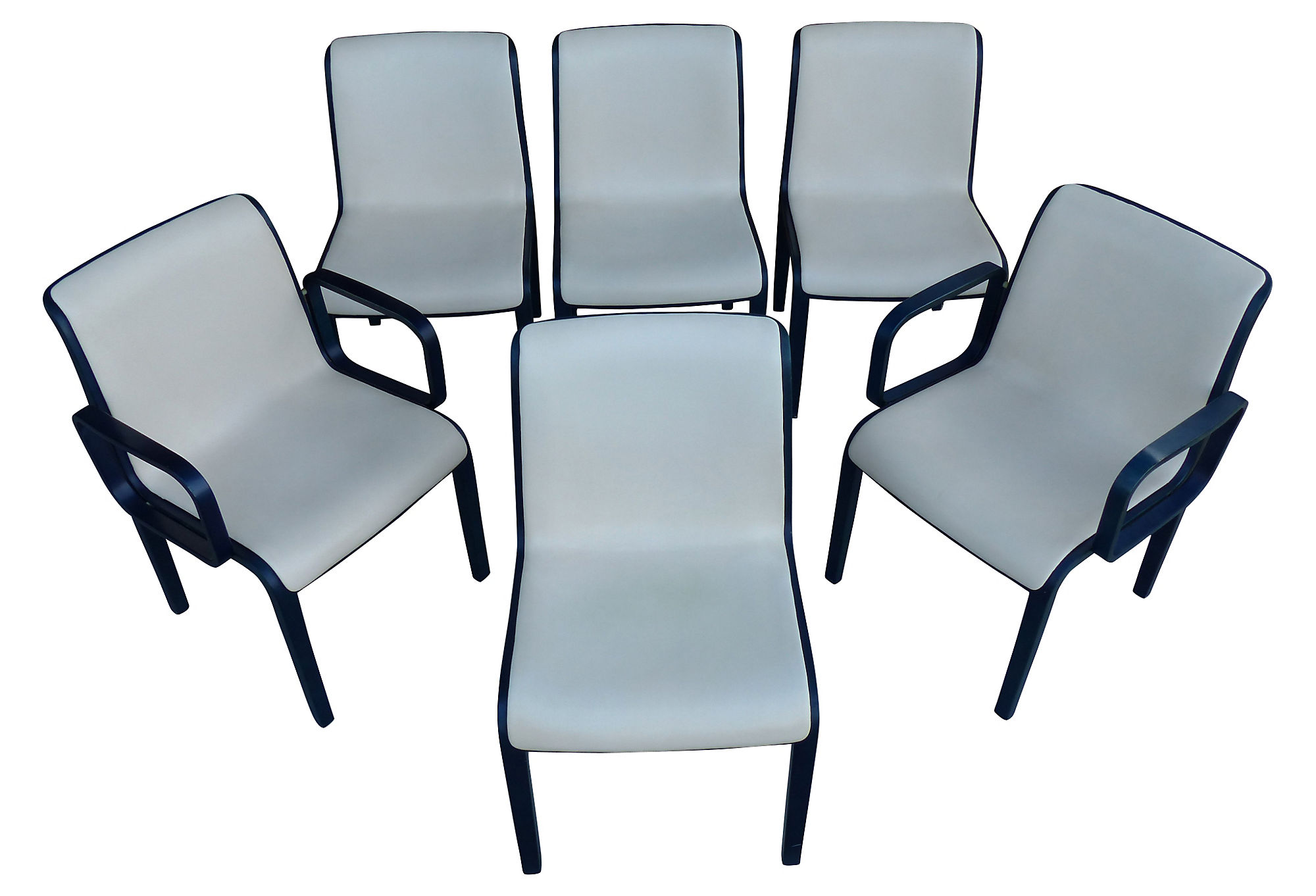 Set Of Six Chairs By Bill Stephens For Knoll International