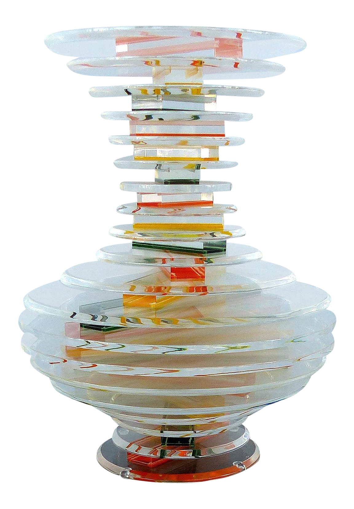 Lucite Sculpture After The Glass Designs Of Sidney Hutter