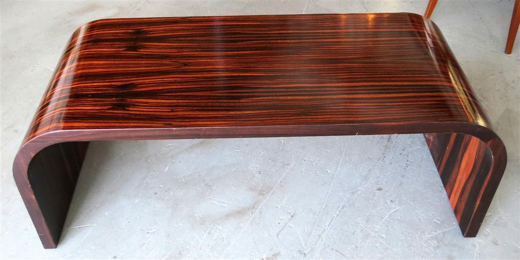 American Art Deco Macassar Ebony Coffee Table Modernism