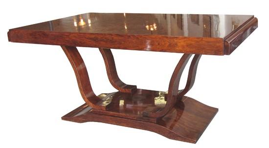 French Art Deco Mahogany Dining Table