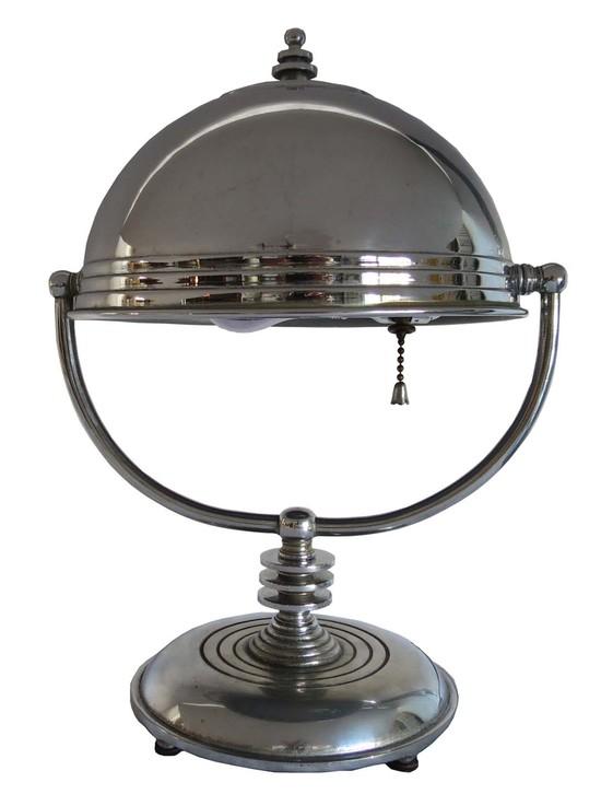 markel american art deco swivel shade table lamp modernism. Black Bedroom Furniture Sets. Home Design Ideas