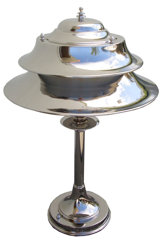 Markel American Art Deco Double Shade Table Or Desk Lamp