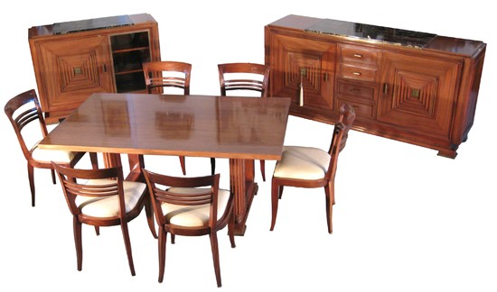Maxime Old French Art Deco Dining Room Suite