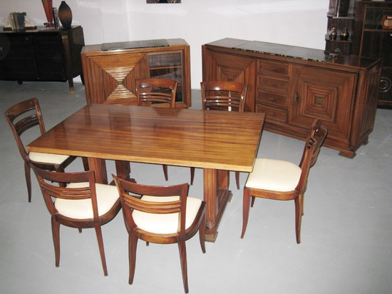 maxime old french art deco dining room suite modernism