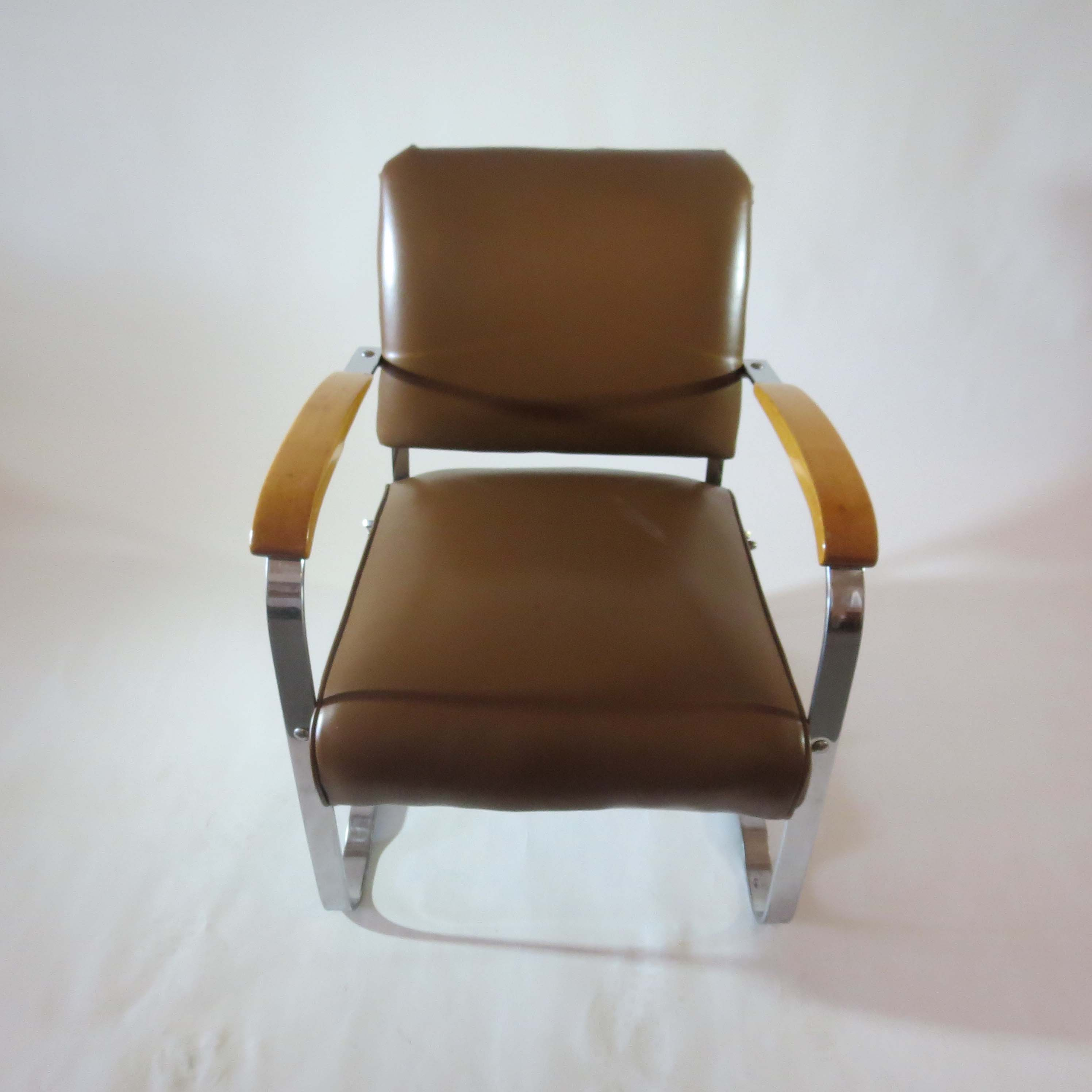 Pair Of American Art Deco Arm Chairs By The McKay Company