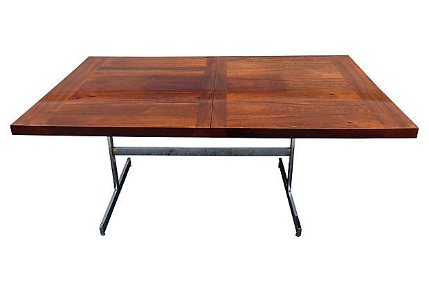 Mid Century Modern Dining Table Style Of Milo Baughman