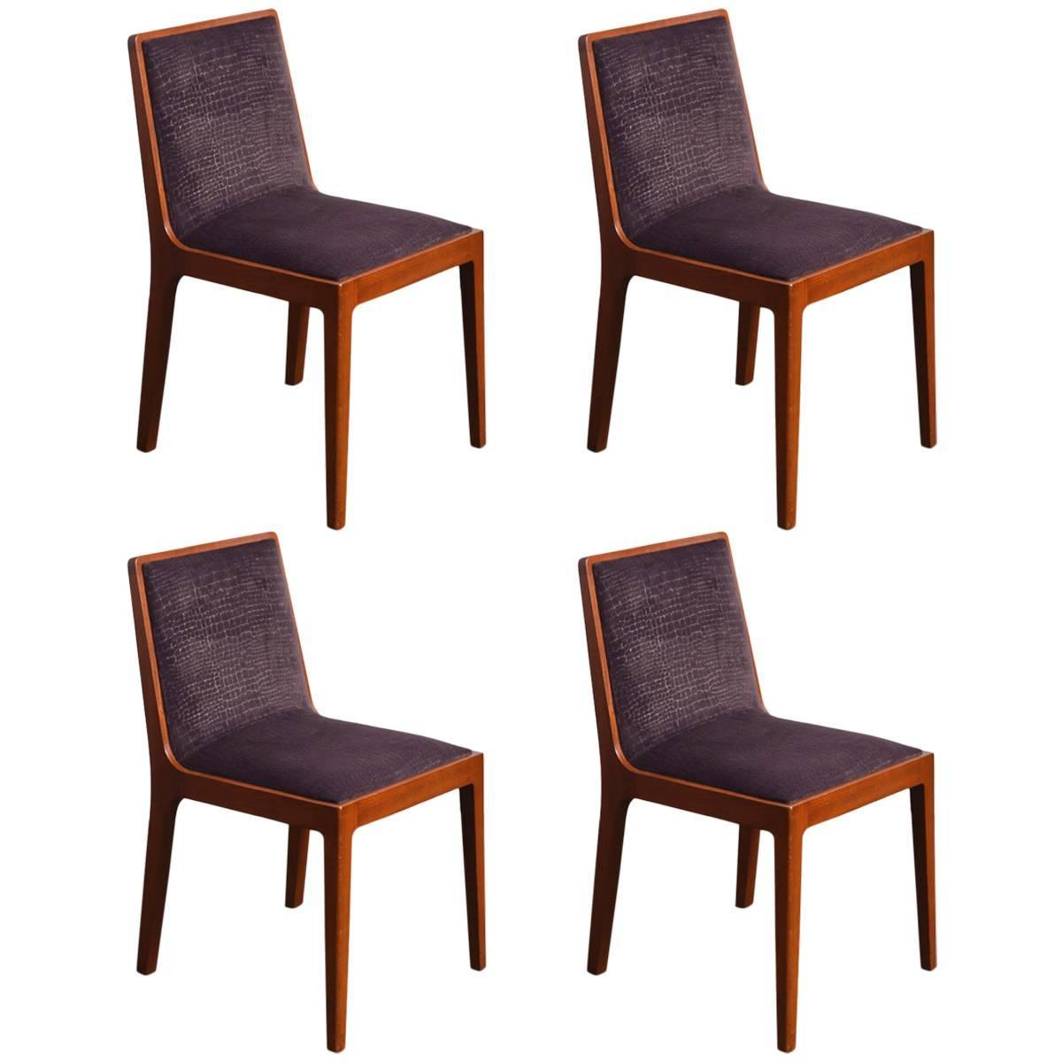 Set Of Four 1950s Chair Modernism