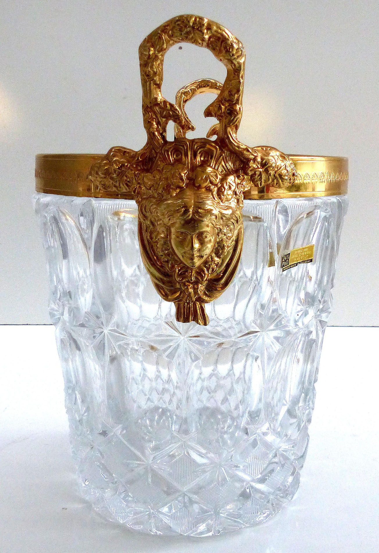 Western Germany Lead Crystal Champagne Ice Bucket Modernism