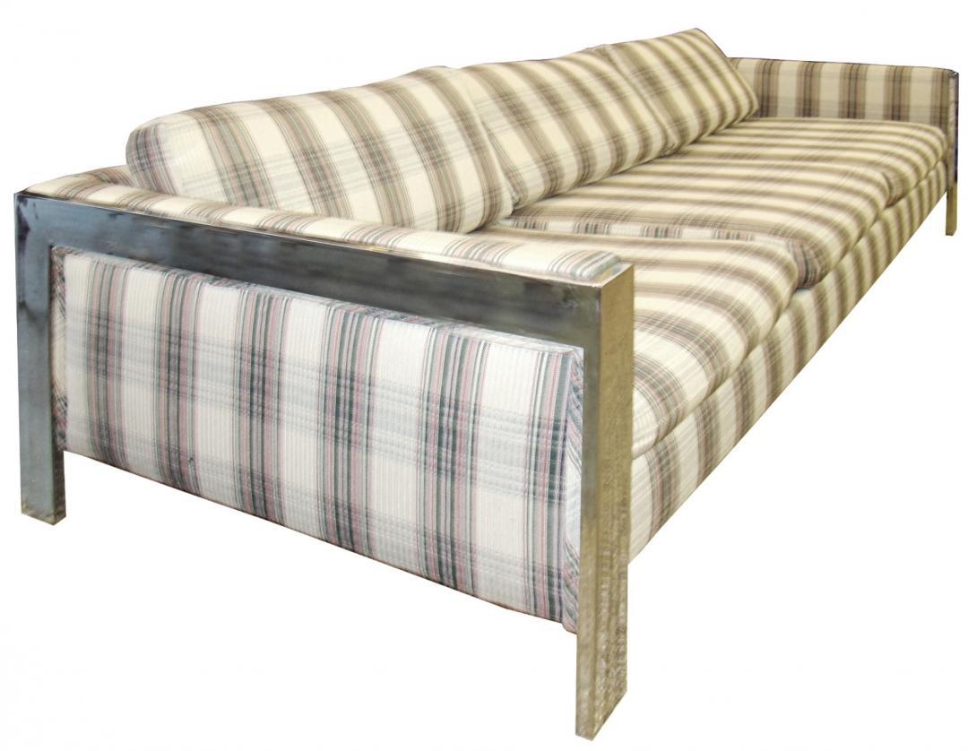 Milo Baughman Mid Century Modern Chrome Sofa