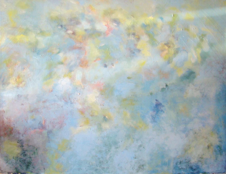 Monumental Mid Century Modern Impressionist Painting