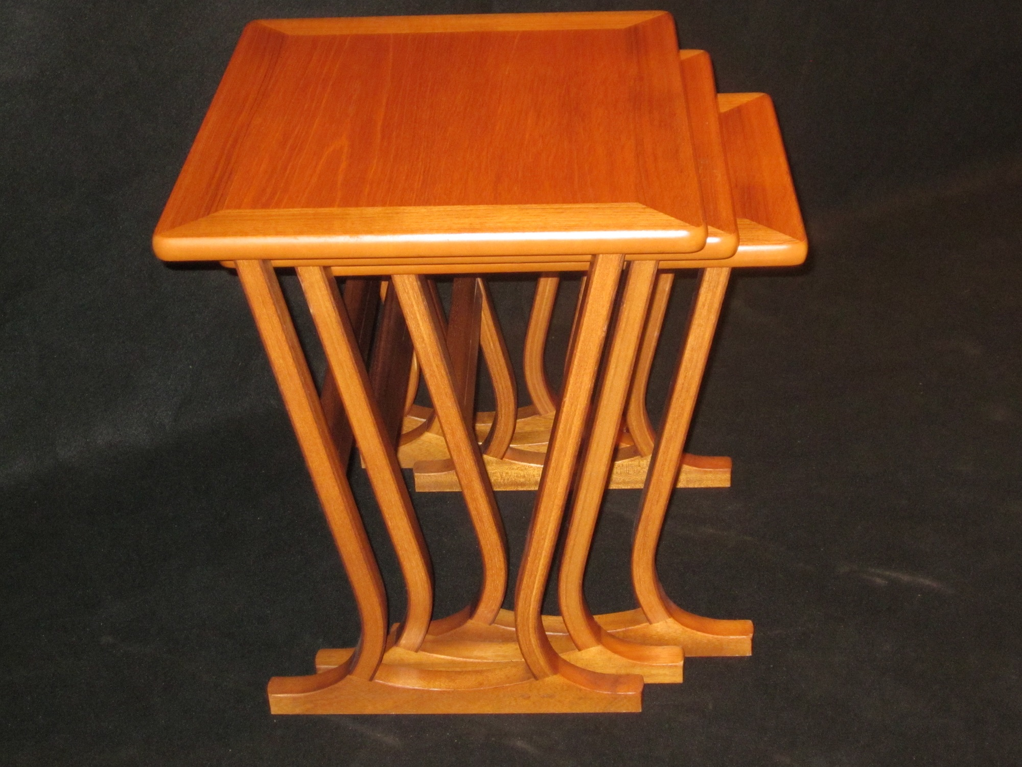 Mid Century Modern Parker Knoll Nesting Tables Set 3