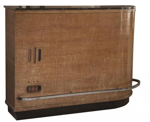 German Art Deco Asymmetrical Bar Cabinet