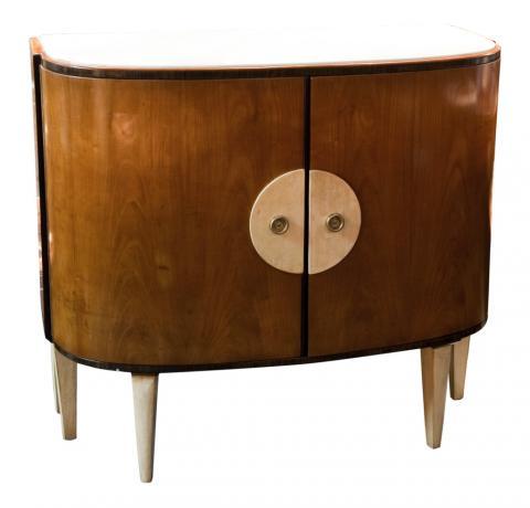 French Art Deco Streamline Bar Cabinet