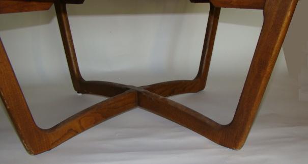 large 1950's mid century modern round teak wood coffee table