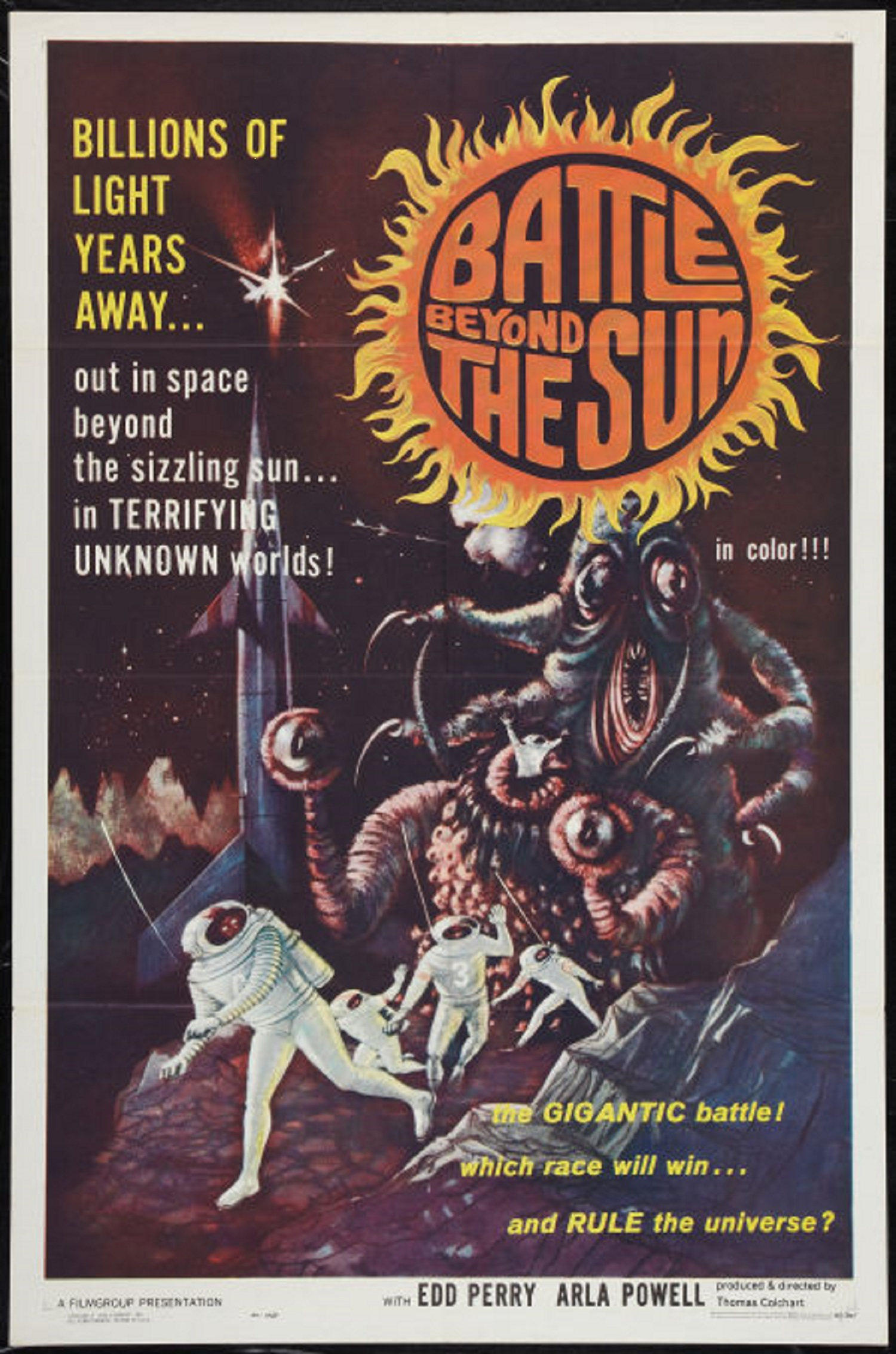 movie poster battle beyond the sun scifi cult classic