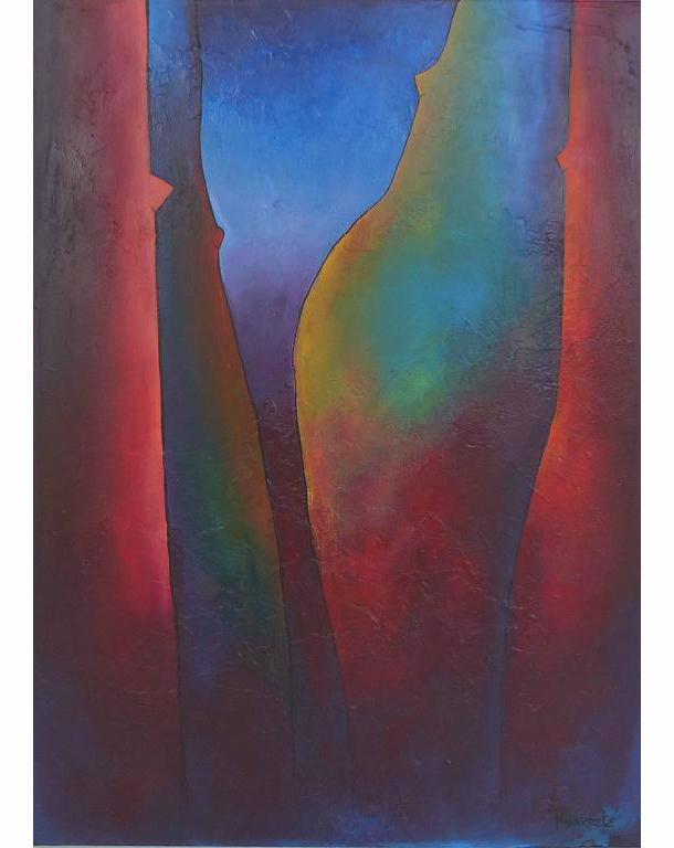 Oil Painting By Cuban American Artist Juan Navarrete
