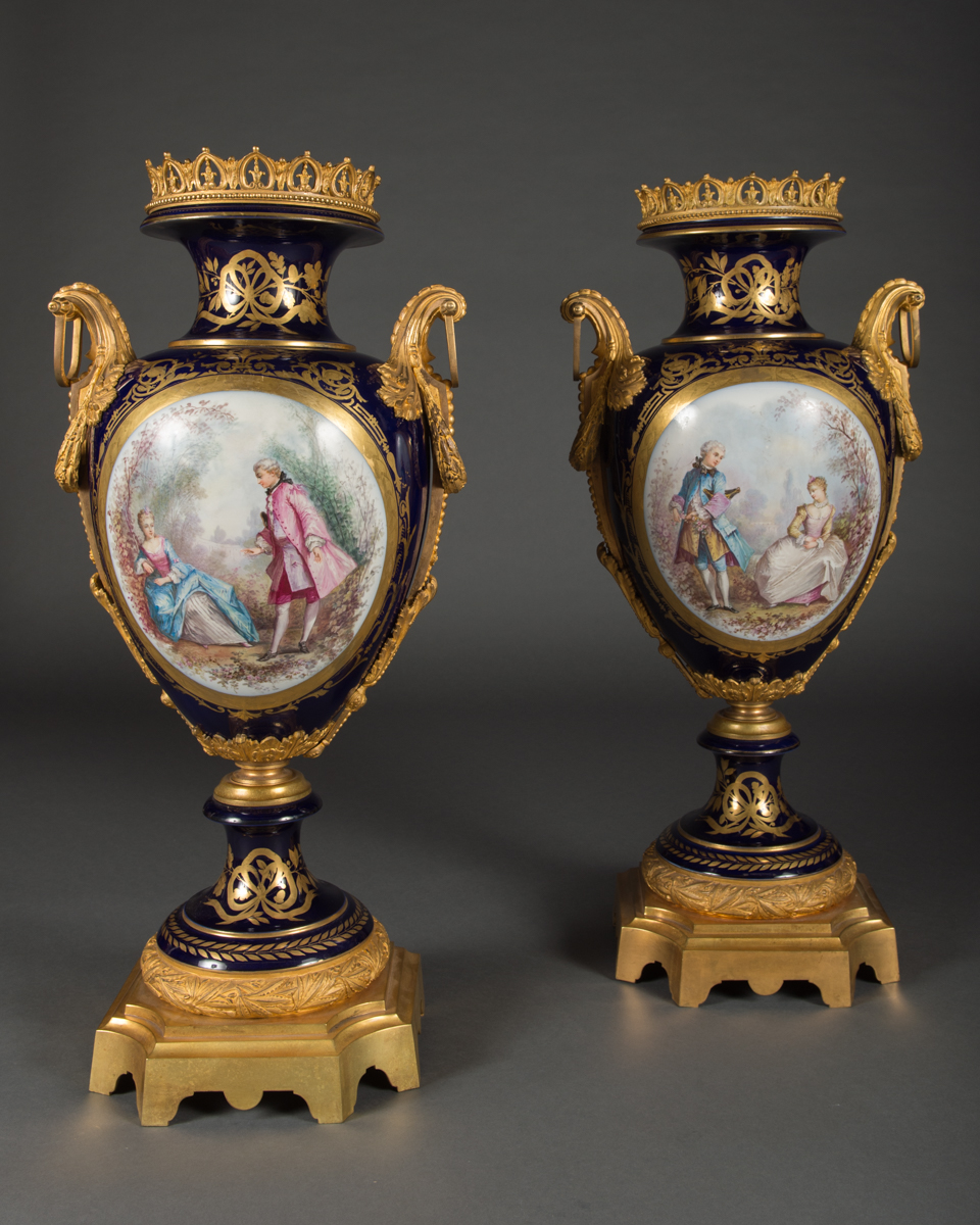 Pair of large antique french style ormolu mounted vases modernism pair of large antique french style ormolu mounted vases reviewsmspy