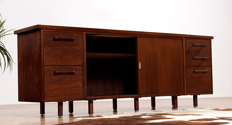 Mid century modern alma architectural series office for Modern office credenza