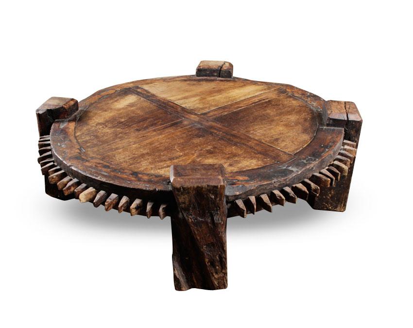 Huge Antique Brazilian Sugar Cane Press Table Modernism