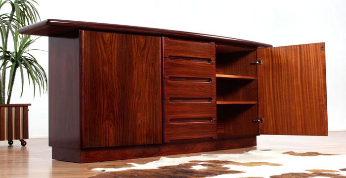 Refinished Vintage Skovby Danish Rosewood Credenza Modernism