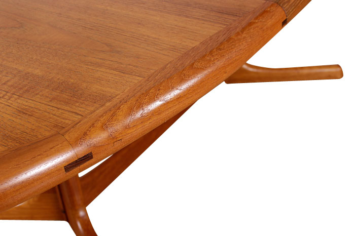 Refinished Vintage Dyrlund Danish Teak Dining Table