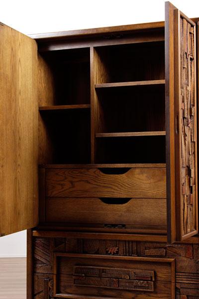 restored mid century lane brutalist chest