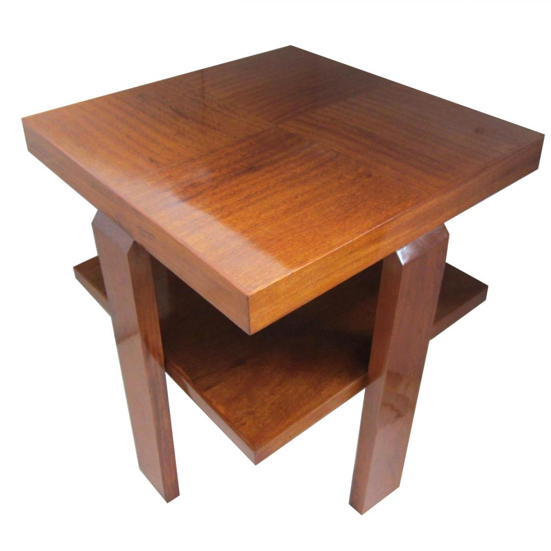 French Art Deco Mahogany Occasional Table  Modernism