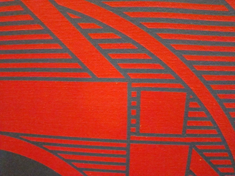 Large Vibrant Op Art Hard Edge Painting By Earle Weiner