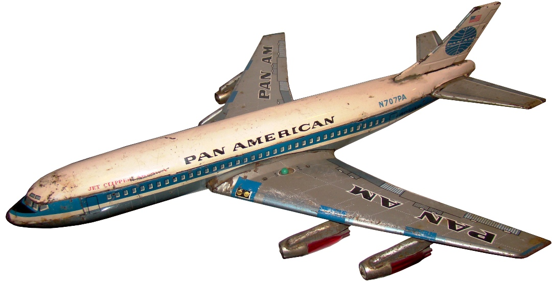 Mid Century Modern Toy Pan Am Jet Clipper Airplane Modernism
