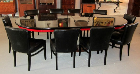 paul frankl american art deco dining table and 10 chairs art deco dining furniture