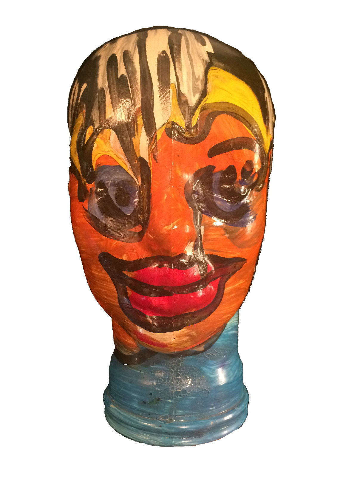 Peter Keil Painted Glass Head Modernism