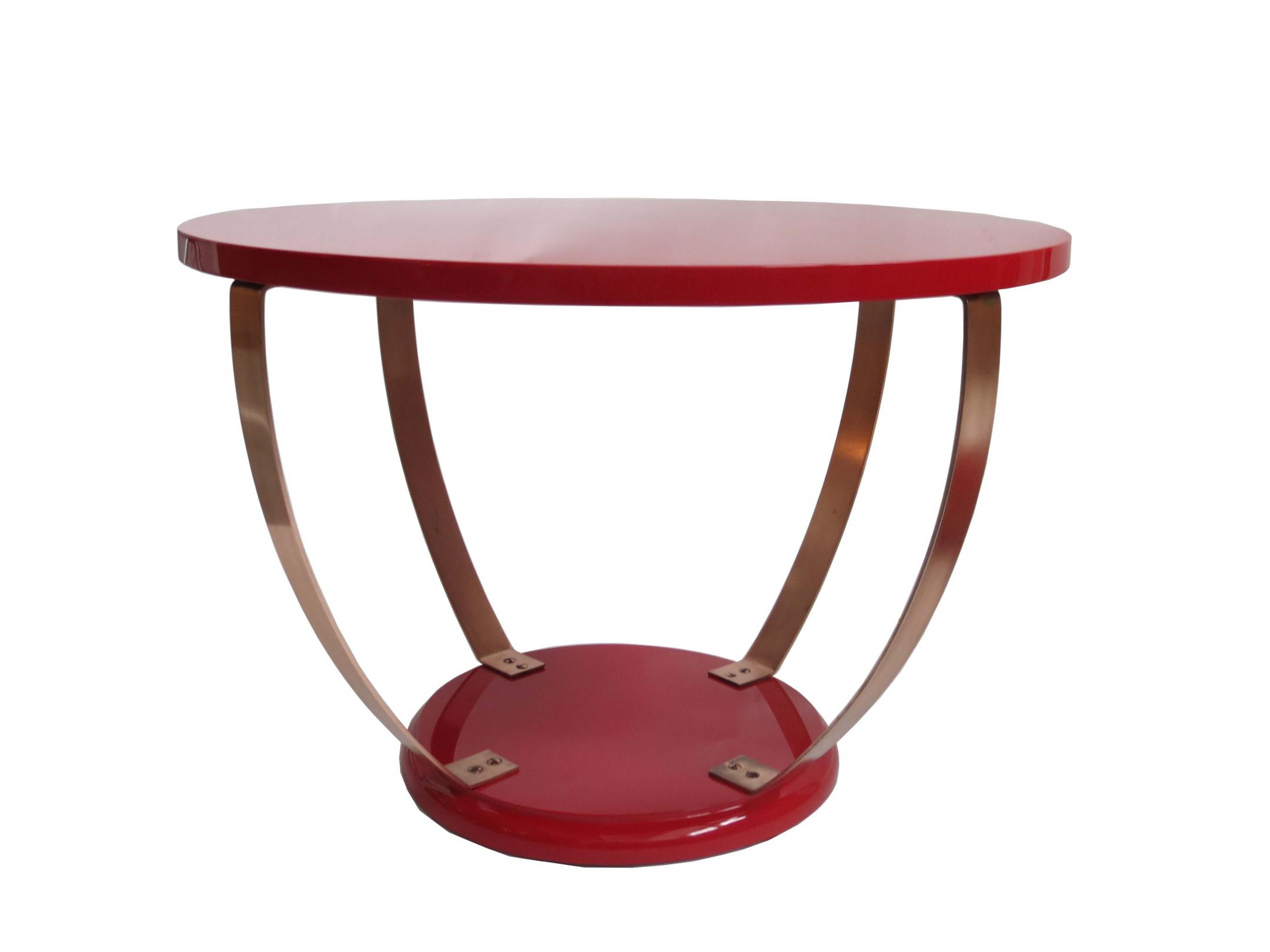 Red Lacquer American Art Deco Coffee Table