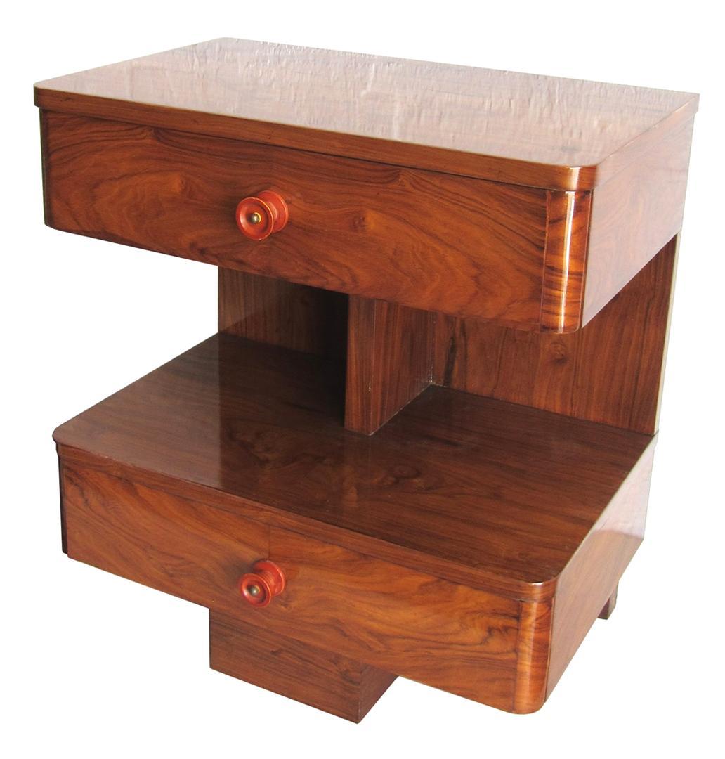 American Art Deco Rosewood Sofa Side Table Modernism