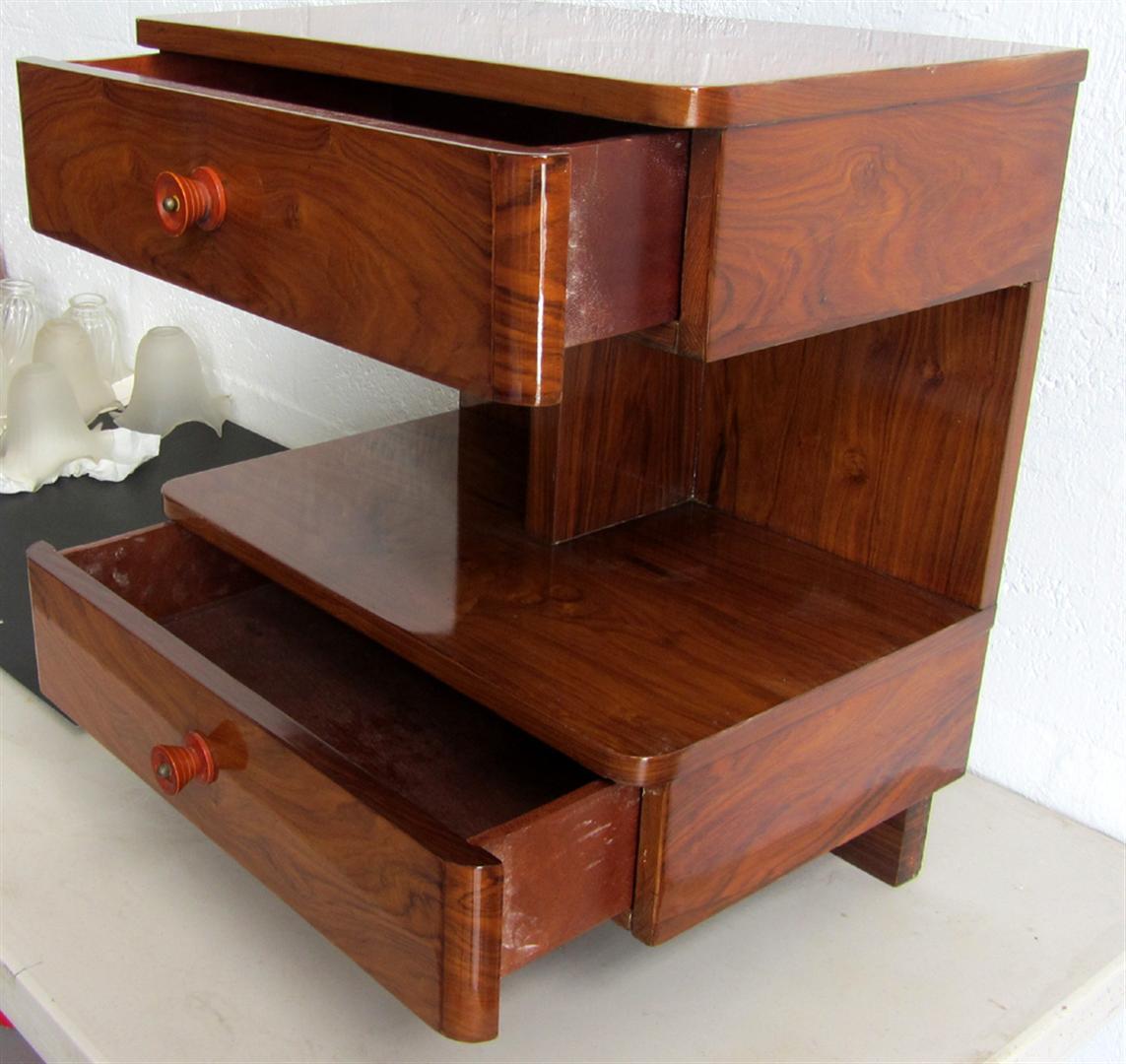 American Art Deco Rosewood Sofa Side Table