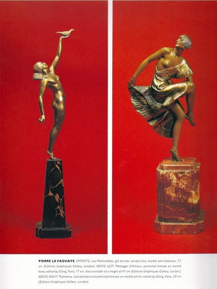 Message Of Love Art Deco Sculpture By Pierre Le Faguays