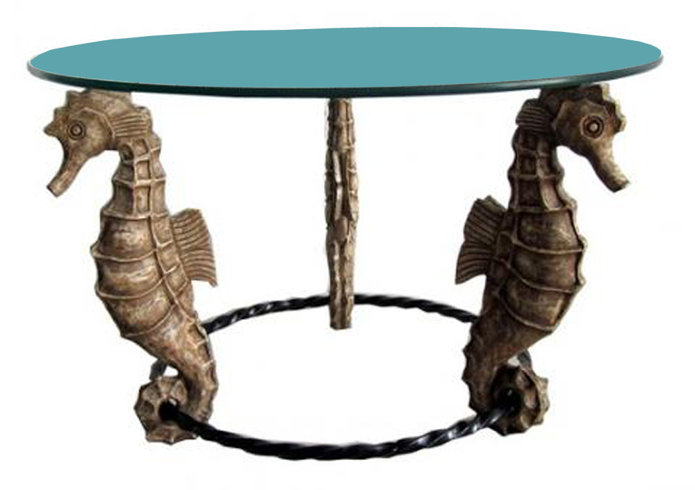 American Art Deco Seahorse Coffee Or Occasional Table
