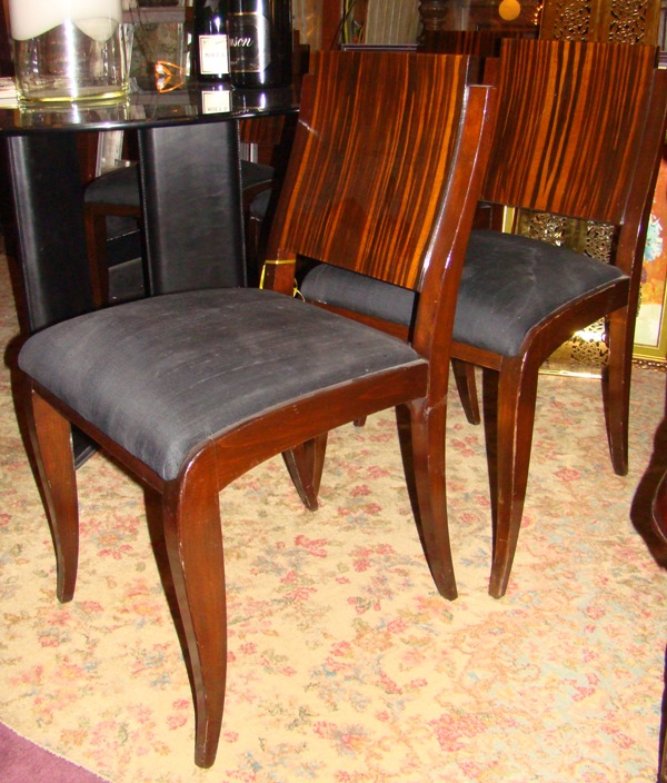 set of 6 elegant french art deco macassar dining chairs art deco dining chair