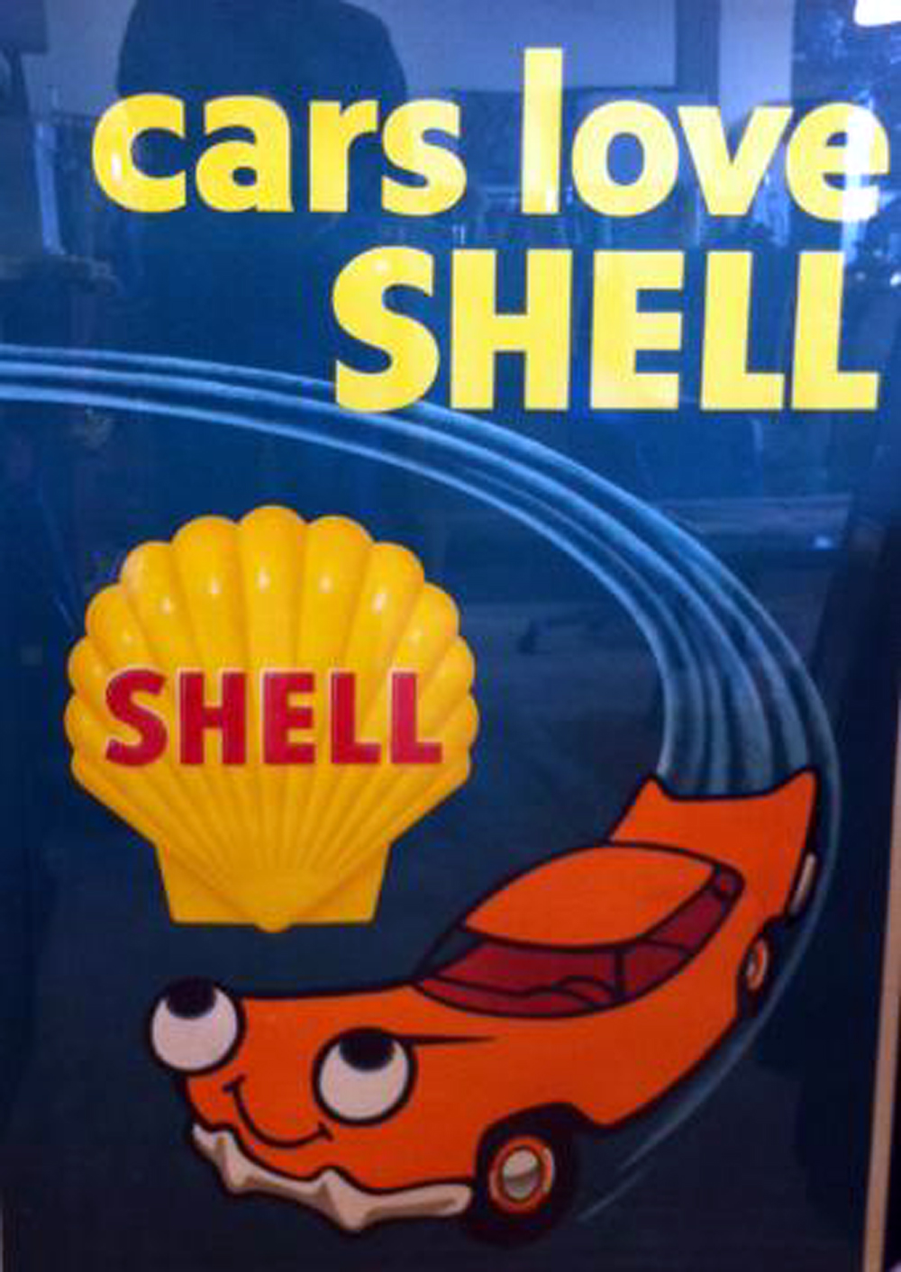 Rare 1960 Vintage Shell Oil Advertising Poster Newly