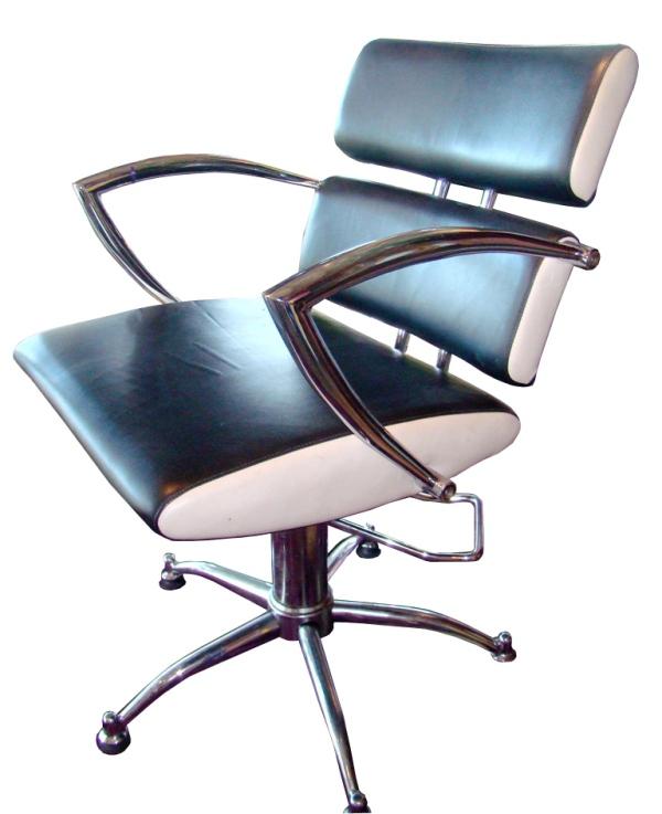 Pleasing Sleek Black White Mid Century Modern Swivel Salon Chairs Interior Design Ideas Tzicisoteloinfo
