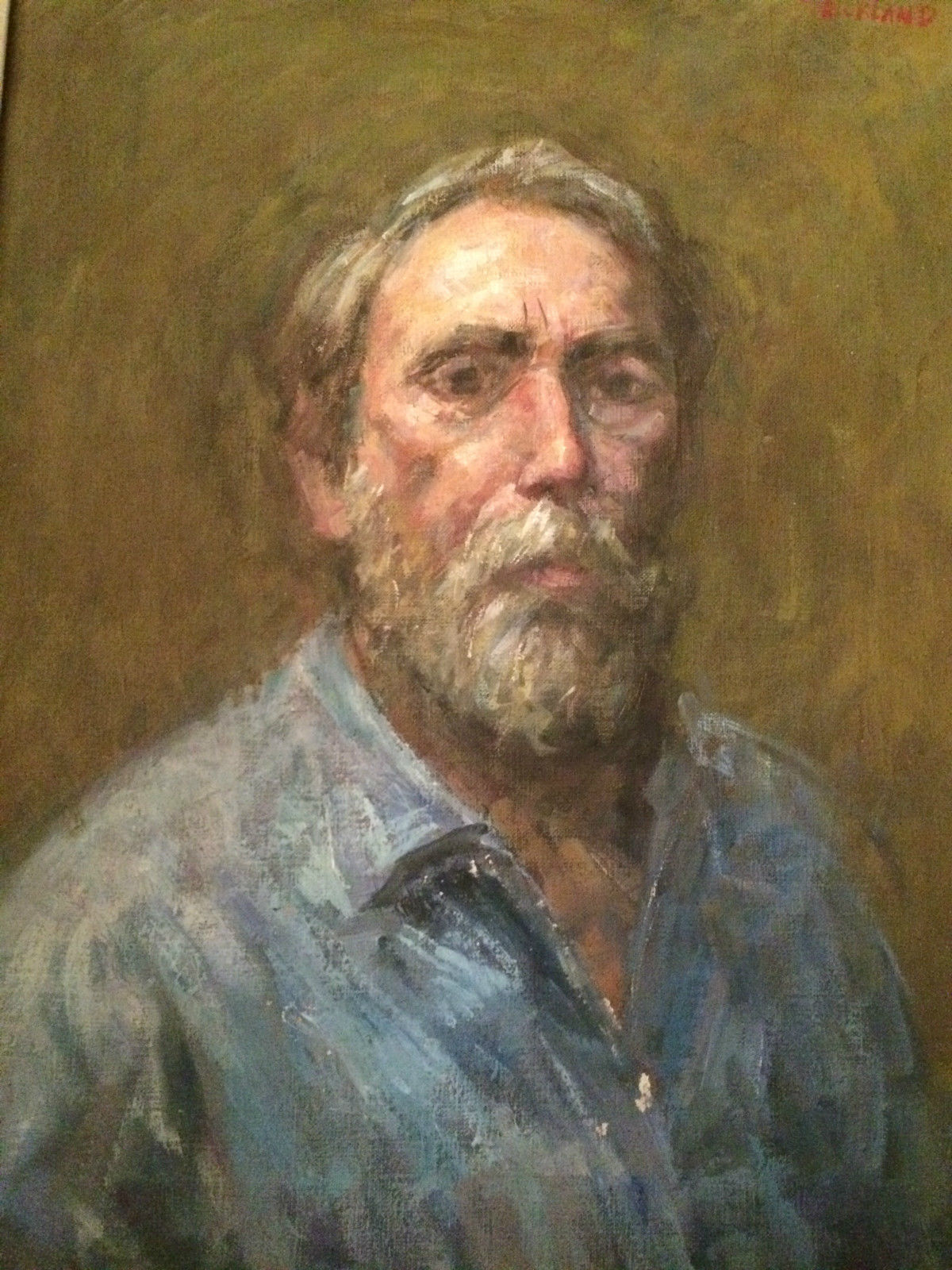 Thomas J Strickland Self Portrait Oil Painting Modernism